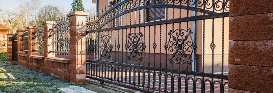 Installation de portail coulissant