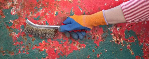 retirer la rouille d'un support avant de le peindre